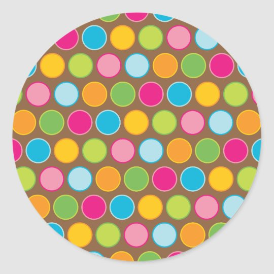 Chocolate Dots Stickers