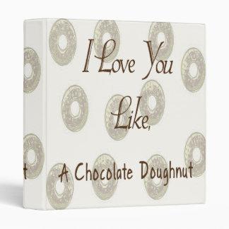 Chocolate Doughnut 3 Ring Binder