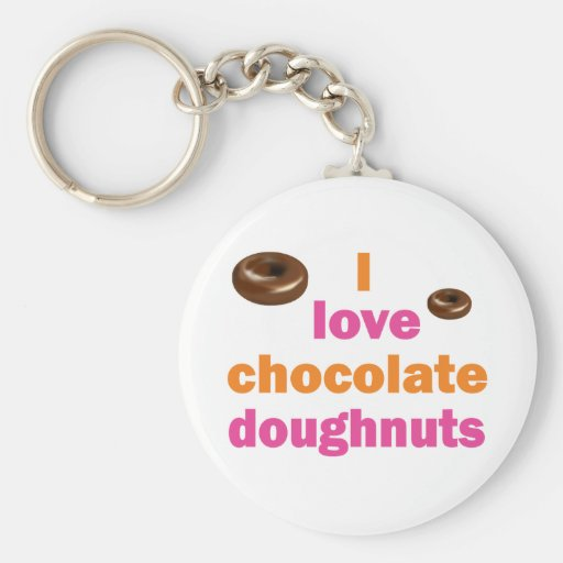 Chocolate Doughnut Love Key Chains