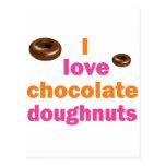 Chocolate Doughnut Love Post Cards