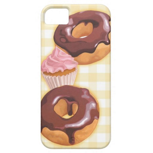 Chocolate doughnuts and cupcake iPhone 5 cases