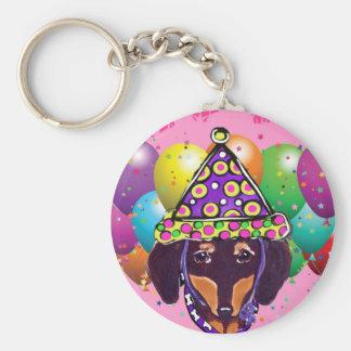 Chocolate Doxie Keychain