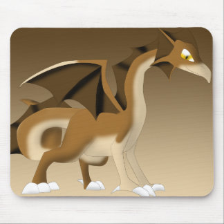 Chocolate Dragon Fantasy Cartoon Mouse Pad