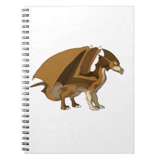 Chocolate Dragon Remake No Background Spiral Notebook