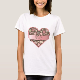 Chocolate Dream heart with banner, customizable T-Shirt
