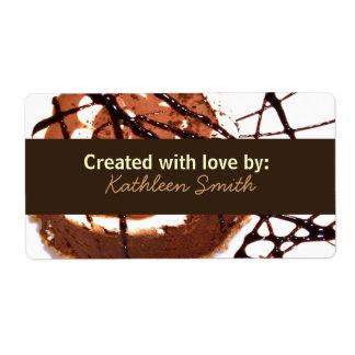 Chocolate Dream Recipe/Goodies Label Shipping Label