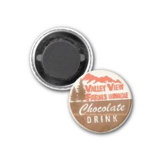 """""""Chocolate Drink Milk Cap-1960s"""" 1 Inch Round Magnet"""