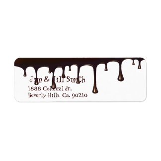 Chocolate Drip Set Label