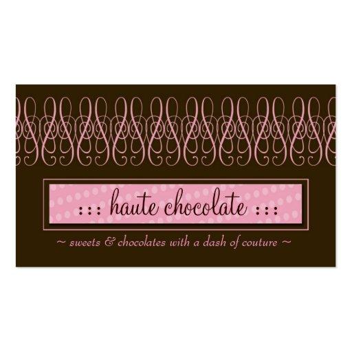 CHOCOLATE DULCE 311-SWIRLY PLANTILLA DE TARJETA DE VISITA