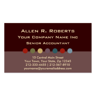 Chocolate Earth Tone Dots Corporate Chic Business Card