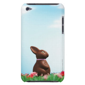 Chocolate Easter bunny amongst flowers in grass, iPod Touch Case-Mate Case