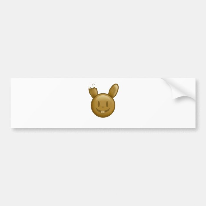 Chocolate Easter Bunny Bumper Sticker