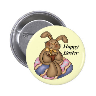 Chocolate Easter Bunny button