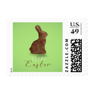 Chocolate Easter Bunny Postage
