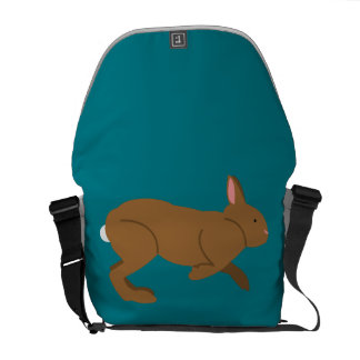 Chocolate Easter Bunny Rabbit Courier Bag