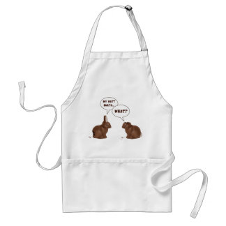 Chocolate Easter Bunny Rabbits Butt Hurts Aprons