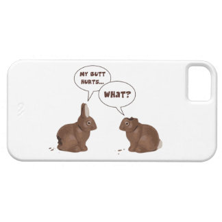 Chocolate Easter Bunny Rabbits Butt Hurts iPhone 5/5S Cases
