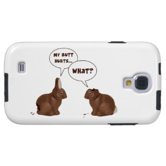 Chocolate Easter Bunny Rabbits Butt Hurts Galaxy S4 Case