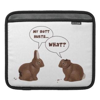 Chocolate Easter Bunny Rabbits Butt Hurts iPad Sleeves