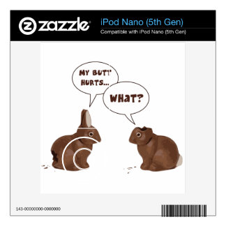 Chocolate Easter Bunny Rabbits Butt Hurts Decal For iPod Nano 5G