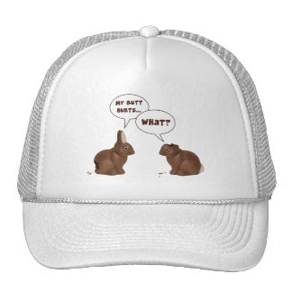 Chocolate Easter Bunny Rabbits Butt Hurts Trucker Hat