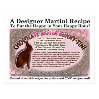Chocolate Easter Bunny - Tini Martini Recipe Card