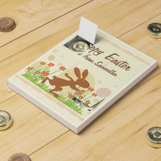 Chocolate Easter Bunny with Flowers Chocolate Countdown Calendars