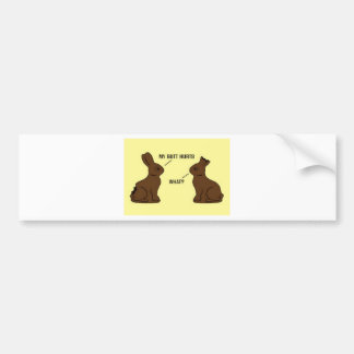 Chocolate Easter Bunnys Bumper Sticker