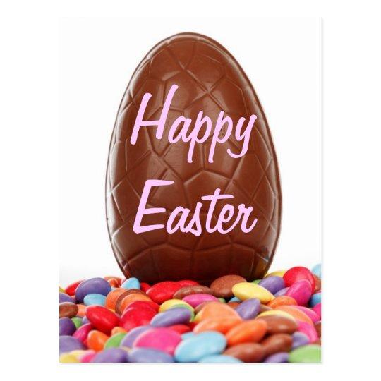 Chocolate Easter Egg Postcard