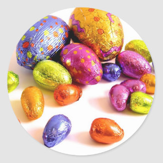 Chocolate Easter Eggs for the Holidays Classic Round Sticker