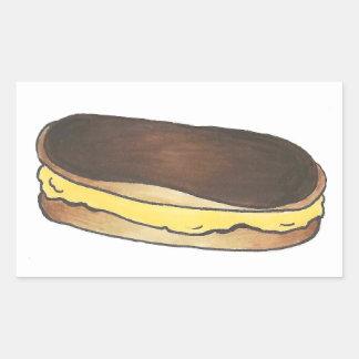 Chocolate Eclair Pastry Dessert Food Stickers