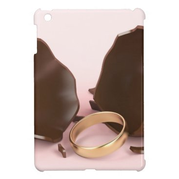 Wedding Themed Chocolate egg and engagement ring iPad mini cases