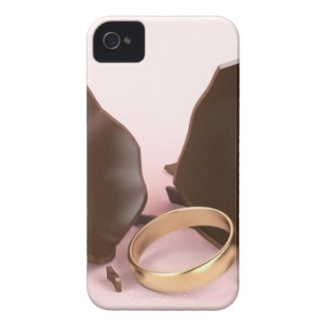 Wedding Themed Chocolate egg and engagement ring iPhone 4 Case-Mate case