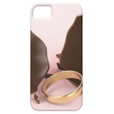 Wedding Themed Chocolate egg and engagement ring iPhone SE/5/5s case