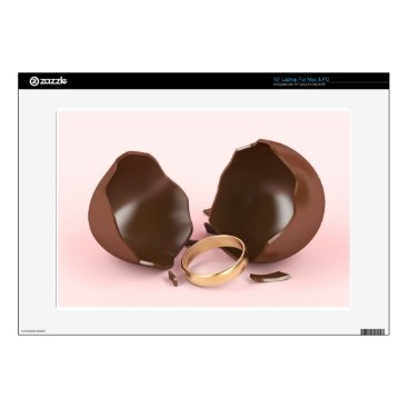"""Wedding Themed Chocolate egg and engagement ring skins for 15"""" laptops"""