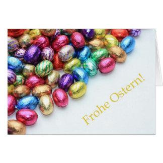 Chocolate eggs german easter greeting greeting card