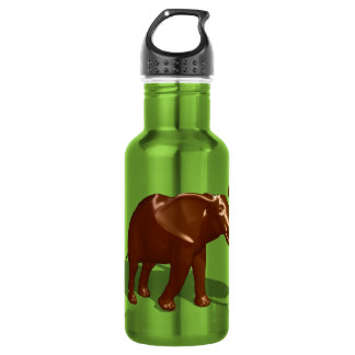 Chocolate Elephant Stainless Steel Water Bottle