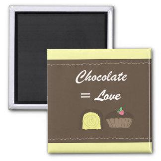 Chocolate Equals Love Fridge Magnet