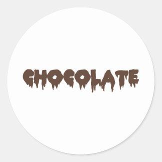 Chocolate - estilo rocoso del horror pegatina redonda