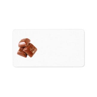 Chocolate Etiquetas De Dirección