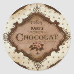 chocolate etiquetas redondas