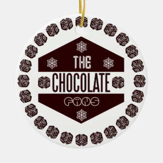 chocolate fans ceramic ornament