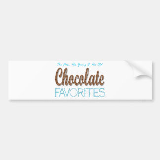 Chocolate Favorites Bumper Sticker
