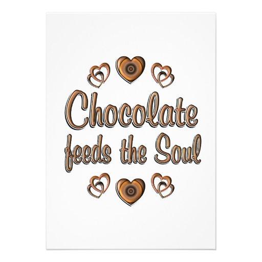 Chocolate Feeds the Soul Custom Invites