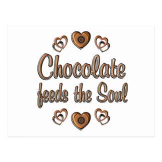 Chocolate Feeds the Soul Postcard
