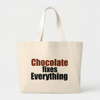 Chocolate fixes Everything Tote Bags