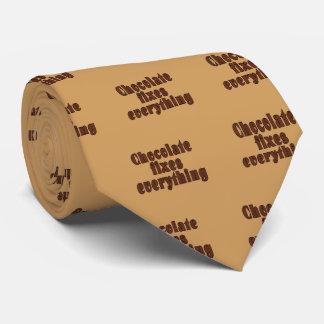 Chocolate fixes everything neck tie