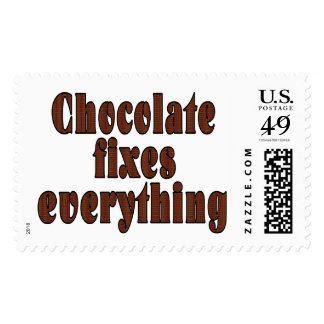 Chocolate fixes everything postage