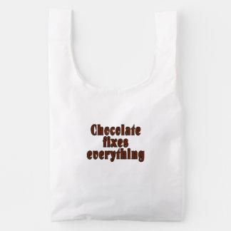 Chocolate fixes everything reusable bag