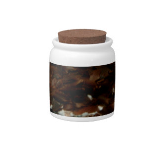 Chocolate flakes candy jar Chocolate decor